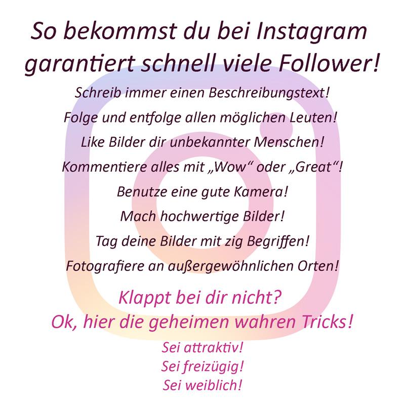8 einfache und 3 geheime Tricks wie du bei Instagram schnell neue Follower bekommst!
