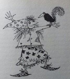 Die kleine Hexe mit dem Raben Abraxas - Illustration von Winnie Gebhardt-Gayler
